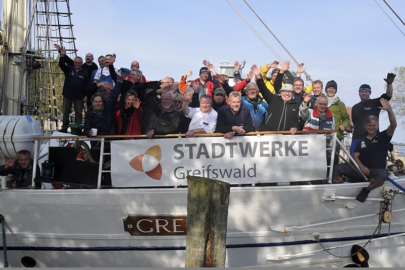 SSS Greif 50 Ankunft Greifswald Toern Ostsee 2014-09-28 QF Copyright Foto Knut Hildebrandt